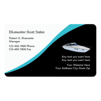 Speed boat business cards templates zazzle for Boat business cards