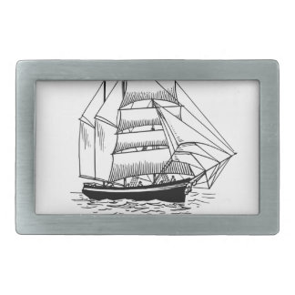 boat saying on the seas belt buckle