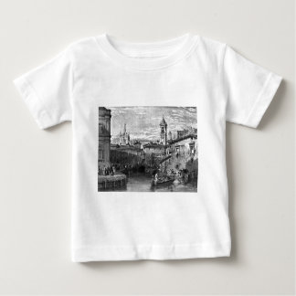 Boat scene at Milan, drawing by Leitch, engraving Baby T-Shirt