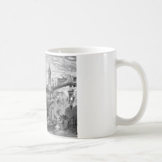 Boat scene at Milan, drawing by Leitch, engraving Coffee Mug