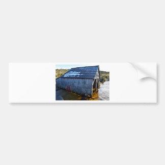 BOAT SHED CRADLE MOUNTAIN TASMANIA AUSTRALIA BUMPER STICKER