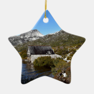 BOAT SHED CRADLE MOUNTAIN TASMANIA AUSTRALIA CERAMIC ORNAMENT