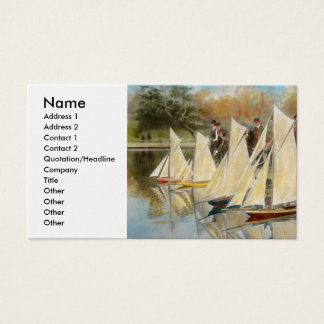 Boat - Sorry kids this ones mine 1910 Business Card