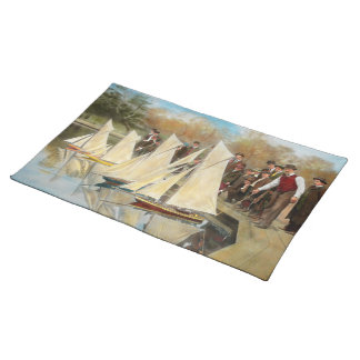 Boat - Sorry kids this ones mine 1910 Cloth Placemat