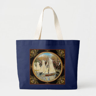 Boat - Sorry kids this ones mine 1910 Large Tote Bag