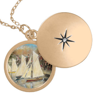 Boat - Sorry kids this ones mine 1910 Locket Necklace