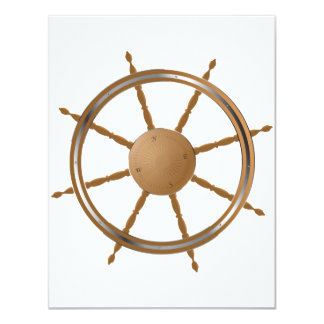 Boat Steering Wheel Invitations