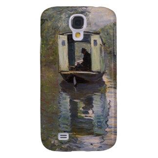 Boat Studio (Le bateau-atelier) - Claude Monet Galaxy S4 Cover
