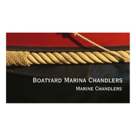 Ropework Rubbing Strip Canal Boat Business Cards