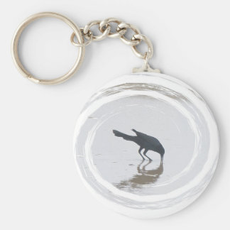 Boat-Tailed Grackle Digging for a Meal Series Keychain