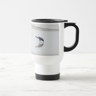 Boat-Tailed Grackle Digging for a Meal Series Travel Mug