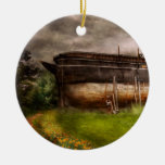 Boat - The construction of Noah's Ark Christmas Ornament