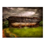 Boat - The construction of Noah's Ark Postcard