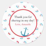 Boat Theme Favor Sticker