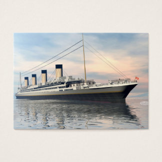 boat_titanic_close_water_waves_sunset_pink_standar business card