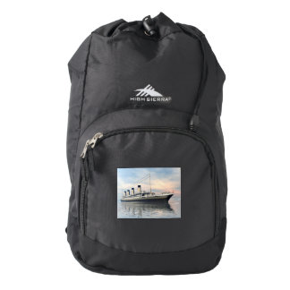 boat_titanic_close_water_waves_sunset_pink_standar high sierra backpack