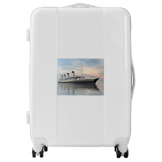 boat_titanic_close_water_waves_sunset_pink_standar luggage