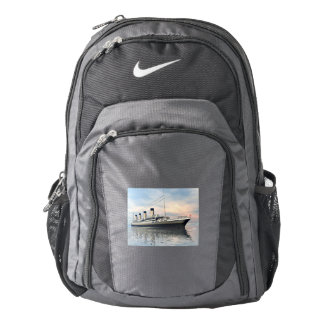 boat_titanic_close_water_waves_sunset_pink_standar nike backpack