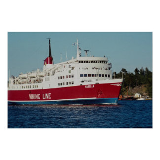 Boat to Finland, Stockholm, Archipelago, Sweden Poster