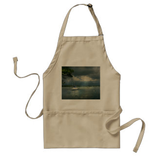 Boat - Tranquility before the storm Adult Apron