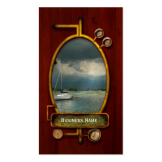 Boat - Tranquility before the storm Business Card Templates