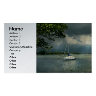Boat - Tranquility before the storm Business Cards