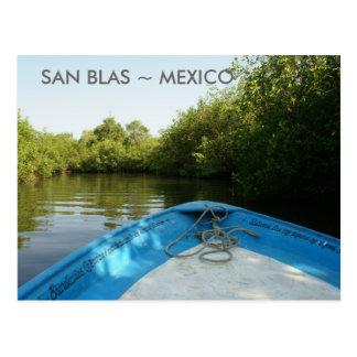 Boat Trip in San Blas Mangroves Postcard