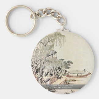 Boat Trip On The Lake By Ch'En Hung-Shou Keychain
