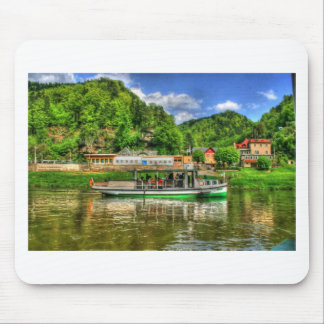 Boat Trip on the River Elbe Mouse Pad