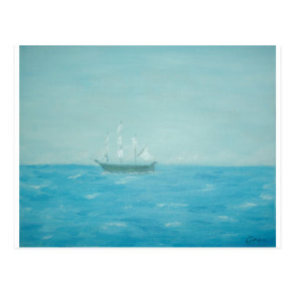 Boat trip postcard