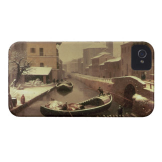 Boat under the Snow iPhone 4 Case