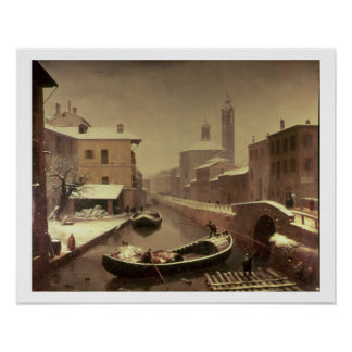 Boat under the Snow Poster
