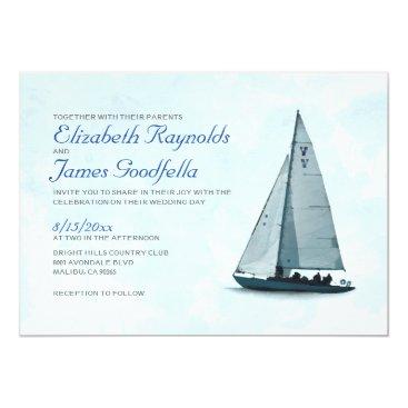 topinvitations Boat Wedding Invitations