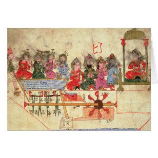 Boat with Automata, illustration Card