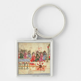 Boat with Automata, illustration Keychain