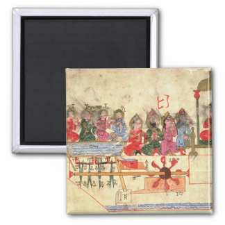 Boat with Automata, illustration Magnet