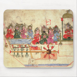 Boat with Automata, illustration Mouse Pad
