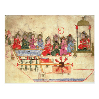 Boat with Automata, illustration Postcard