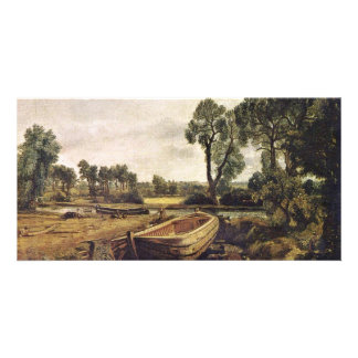 Boatbuilding In Flatford By John Constable (Best Q Customized Photo Card