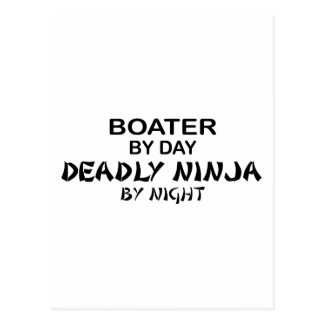 Boater Deadly Ninja by Night Postcard