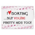 Boater's Card - I love (heart) Boating...Blank