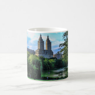 Boaters on the Central Park Lake, San Remo Classic White Coffee Mug