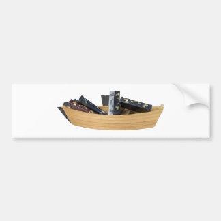 BoatFilledBriefcases061315.png Bumper Sticker