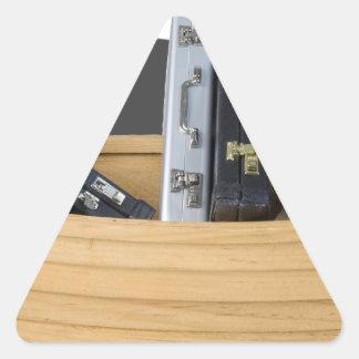 BoatFilledBriefcases061315.png Triangle Sticker