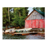 """""""Boathouse"""", Canada Outdoors Landscape Photo Post Cards"""