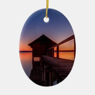Boathouse Ceramic Ornament