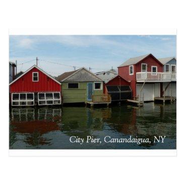 alake4 Boathouse: City Pier, Canandaigua, NY Postcard