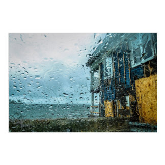 Boathouse Downpour Poster
