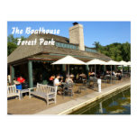 Boathouse in Forest Park Post Card
