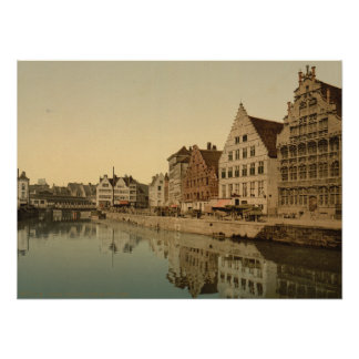 Boathouse in Ghent, Belgium Poster